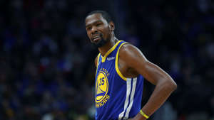 Golden State Warriors forward Kevin Durant is called for a foul during the second half of an NBA basketball game against the Detroit Pistons, Saturday, Dec. 1, 2018, in Detroit. (AP Photo/Carlos Osorio)