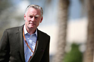 ABU DHABI, UNITED ARAB EMIRATES - NOVEMBER 23:  Sean Bratches, Managing Director (Commercial Operations) of the Formula One Group, walks in the Paddock before practice for the Abu Dhabi Formula One Grand Prix at Yas Marina Circuit on November 23, 2018 in Abu Dhabi, United Arab Emirates.  (Photo by Charles Coates/Getty Images)