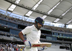 Kohli second fastest to 25 Test centuries