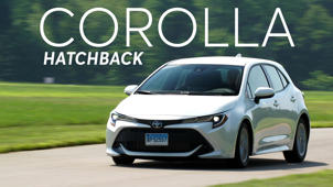 a car parked on the side of a road: 2019 Toyota Corolla Hatchback Quick Drive