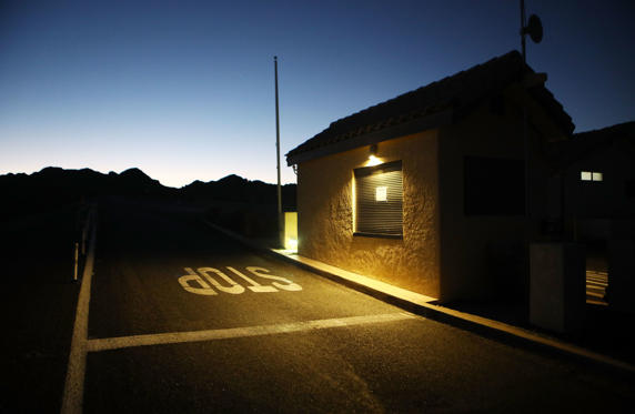 Slide 1 of 19: JOSHUA TREE, CA - JANUARY 04:  A shuttered entrance station for Joshua Tree National Park stands at dawn on January 4, 2019 in Joshua Tree, California. The gate is normally staffed during most of the day but is now unstaffed 24 hours per day, allowing free entrance for all visitors. Campgrounds and some roads have been closed at the park due to safety concerns as the park is drastically understaffed during the partial government shutdown.  (Photo by Mario Tama/Getty Images)