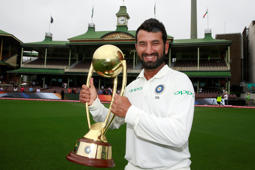 Pujara collects Man-of-the-Series award in Aus