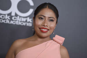 Yalitza Aparicio arrives at the Hollywood Film Awards on Sunday, Nov. 4, 2018, at the Beverly Hilton Hotel in Beverly Hills, Calif. (Photo by Jordan Strauss/Invision/AP)