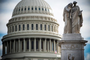 The U.S. Capitol is seen on December 17, 2018, as the deadline for lawmakers to agree on a new spending deal to avert a shutdown approaches.