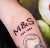 Man gets M&S logo tattooed on his arm