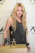 BARCELONA, SPAIN - OCTOBER 09:  Shakira presents her new fragance 'Rock By Shakira' on October 9, 2014 in Barcelona, Spain.  (Photo by Europa Press/Europa Press via Getty Images)
