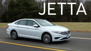 a car parked on the side of a road: 2019 Volkswagen Jetta Road Test