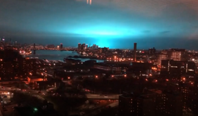 Transformer explosion turned NYC skyline blue