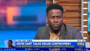 a screen shot of Kevin Hart: No, Kevin Hart Will Not Host the Oscars: 'I'm Over That'