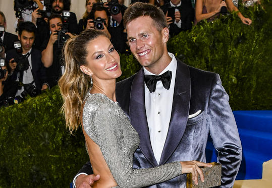 Slide 1 of 18: NEW YORK, NY - MAY 01:  Gisele Bundchen (L) and Tom Brady attend the 'Rei Kawakubo/Comme des Garcons: Art Of The In-Between' Costume Institute Gala at Metropolitan Museum of Art on May 1, 2017 in New York City.