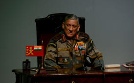 NEW DELHI, INDIA JANUARY 12: Army chief General Bipin Rawat during a press conference in New Delhi. (Photo by Pankaj Nangia/India Today Group/Getty Images)