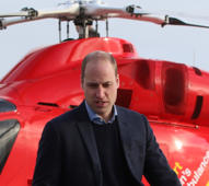 Britain's Prince William, Duke of Cambridge arrives at the Royal London Hospital on board the London air ambulance, in London, Britain, January 9, 2019.