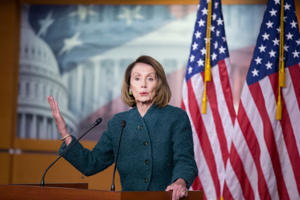 US Speaker of the House Democrat Nancy Pelosi holds a news conference on Capitol Hill in Washington, DC, USA, 10 January 2019.