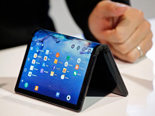 Slide 1 of 32: The new FlexPai bendable phone by Royole is on display on the opening day of the 2019 International Consumer Electronics Show in Las Vegas, Nevada, USA, 08 January 2019. The annual CES, which takes place from 08 to 11 January, is a place where industry manufacturers, advertisers and tech-minded consumers converge to get a taste of new innovations coming to the market each year.
