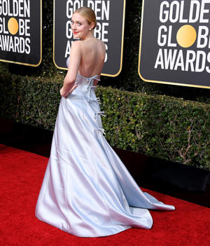 Dakota Fanning arrives at the 76th Annual Golden Globe Awardsat The Beverly Hilton Hotel on January 6, 2019 in Beverly Hills, California.