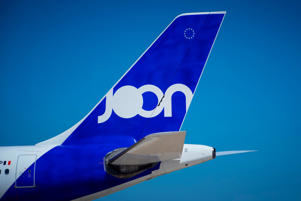 A picture taken on August 6, 2018 shows a Joon (Air-France low cost company)  plane parked on the tarmac of Roissy-Charles de Gaulle Airport, north of Paris. (Photo by JOEL SAGET / AFP)        (Photo credit should read JOEL SAGET/AFP/Getty Images)