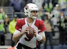 Arizona Cardinals quarterback Josh Rosen drops back to pass against the Seattle Seahawks during the first half of an NFL football game, Sunday, Dec. 30, 2018, in Seattle. (AP Photo/Ted S. Warren)