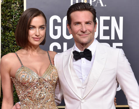 Slide 1 of 5: Irina Shayk and Bradley Cooper attend the 76th Annual Golden Globe Awards at The Beverly Hilton Hotel on January 6, 2019 in Beverly Hills, California.