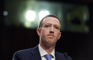 WASHINGTON, DC - APRIL 10: Facebook CEO, Mark Zuckerberg appears for a hearing at the Hart Senate Office Building on Tuesday April 10, 2018 in Washington, DC. Zuckerberg, who is the CEO of Facebook is appearing on Capitol Hill Tuesday. (Photo by Matt McClain/The Washington Post via Getty Images)
