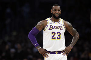Los Angeles Lakers' LeBron James (23) during the first half of an NBA basketball game against the Memphis Grizzlies Sunday, Dec. 23, 2018, in Los Angeles. (AP Photo/Marcio Jose Sanchez)