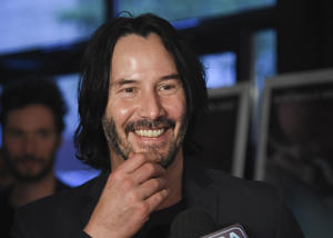 Keanu Reeves is known for conveying emotions with his body not his words.