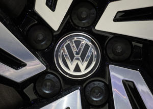 Illustration shows VW Volkswagen logo during the opening day of the 97th edition of the Brussels Motor Show, at Brussels Expo, on Friday 18 January 2019, in Brussels. BELGA PHOTO DIRK WAEM        (Photo credit should read DIRK WAEM/AFP/Getty Images)