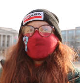 Woman Who's Allergic To Winter Has To Wear Face Mask Whenever She Goes Outside