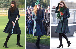 Catherine Duchess of Cambridge visits St Andrew's School in Pangbourne, Berkshire, Britain - 30 Nov 2012; Members of The Royal Family attend a Christmas Day service at St Mary Magdalene Church on The Sandringham estate, Norfolk, Britain - 25 Dec 2013; DUNDEE, SCOTLAND - JANUARY 29: Catherine, Duchess Of Cambridge officially opens V&A Dundee and greet members of the public on the waterfront on January 29, 2019 in Dundee, Scotland. (Photo by Karwai Tang/WireImage)