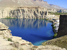 Lakes are situated in Afghanistan first national park in central highlands.