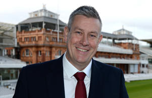 LONDON, ENGLAND - JANUARY 9 : Ashley Giles, England's new director of cricket poses for a photograph in the tavern boxes at Lord's cricket ground on January 9, 2019 in London England. (Photo by Philip Brown/Getty Images)