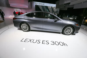 Lexus ES 300h car is seen during the first press day of the Paris Motor Show at Paris Expo Porte de Versailles on October 02, 2018 in Paris, France. From 4 to 14 October 2018, the 'Mondial de l'automobile' presents to the public the new cars of the largest automobile brands in the world.  (Photo by Michel Stoupak/NurPhoto via Getty Images)