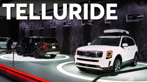 a car parked on the side of a road: 2019 Detroit Auto Show: 2020 Kia Telluride