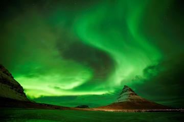 Aurora Borealis, the Northern Lights, over Kirkjufell, a 463 metre mountain on the west coast of Iceland. (Photo by Owen Humphreys/PA Images via Getty Images)
