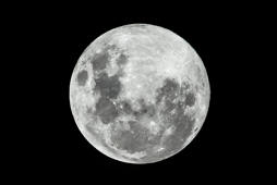The full moon as seen on a clear night.