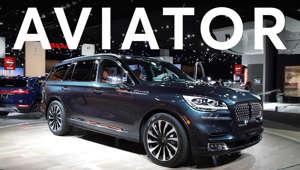 a car parked in front of a building: 2019 Detroit Auto Show: 2020 Lincoln Aviator