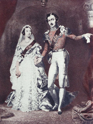 Artist's representation of Queen Victoria and Prince Albert on their wedding day.  (Photo by Time Life Pictures/Mansell/The LIFE Picture Collection/Getty Images)