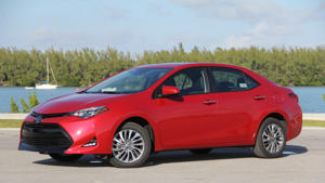 a car parked in a parking lot: 2018 Toyota Corolla XLE: Review