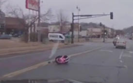 Child survives fall from moving car unharmed