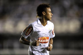 Brazilian football star Neymar, of Santos FC, is seen during their Brazilian Championship football match against Corinthians held at Vila Belmiro stadium, in Santos, some 60 kilometers south of Sao Paulo, Brazil, on September 22, 2010. Corinthians defeated Santos FC by 3-2. AFP PHOTO/Mauricio LIMA (Photo credit should read MAURICIO LIMA/AFP/Getty Images)