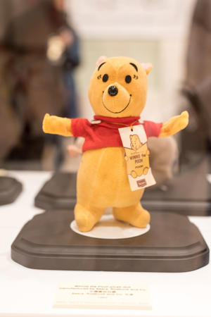 Times Square's Winnie the Pooh exhibition. Plush from 1964. 29MAR17 (Photo by Young Wang/South China Morning Post via Getty Images)
