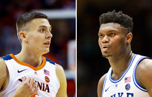 Kyle Guy and Zion Williamson