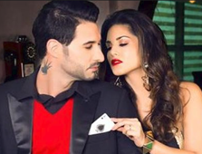 Sunny Leone takes up #HandcuffChallenge with husband