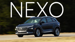 a car parked on the side of a road: 2019 Hyundai Nexo Quick Drive
