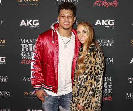 Slide 2 of 58: ATLANTA, GEORGIA - FEBRUARY 02: Patrick Mahomes II (L) and Brittany Matthews attend The Maxim Big Game Experience at The Fairmont on February 02, 2019 in Atlanta, Georgia.