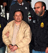 "Mexican drug lord Joaquin ""El Chapo"" Guzman is shown shortly after extradition, in New York, U.S., January 19, 2017, in this photo released February 12, 2019.  Drug Enforcement Administration (DEA)/Handout via REUTERS  ATTENTION EDITORS - THIS IMAGE WAS PROVIDED BY A THIRD PARTY."