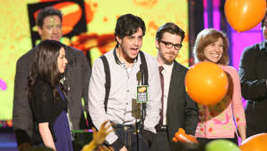 Actors Miranda Cosgrove, Josh Peck, Drake Bell, and Nancy Sullivan at Nickelodeon's 2008 Kids' Choice Awards on March 29, 2008 at the Pauley Pavilion in Los Angeles, California. (Photo by Jason Merritt/FilmMagic)