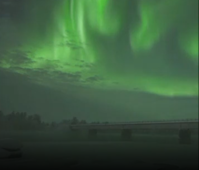 Northern Lights dance across sky over Finland