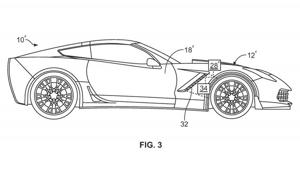 a drawing of a map: Chevrolet Corvette Active Aero Patent