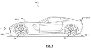 a close up of a map: Chevrolet Active Aero Patent Image Of Corvette
