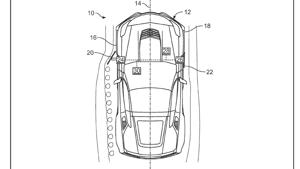 a close up of a map: Chevrolet Corvette Active Aero Patent